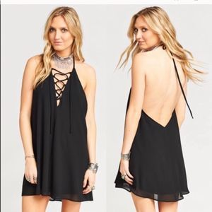 Show Me Your Mumu Backless Black Dress